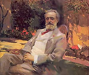 """Raimundo de Madrazo in his Paris Garden"""