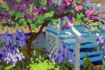 "Painting - ""Back Porch Blossoms"""