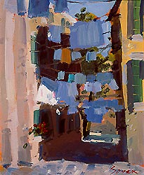 "Painting- ""Laundry Day, Venice"""