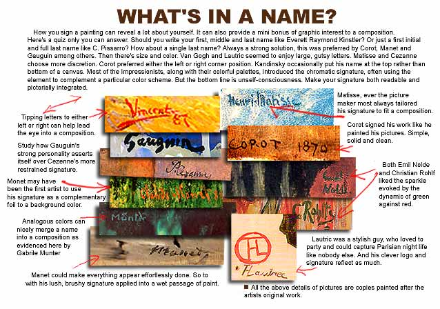 "Speaking of Art - ""What's in a Name?"""